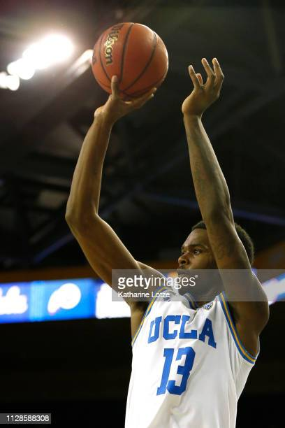 Kris Wilkes of the UCLA Bruins goes up for a shot during a game against the Utah Utes at Pauley Pavilion on February 09 2019 in Los Angeles California