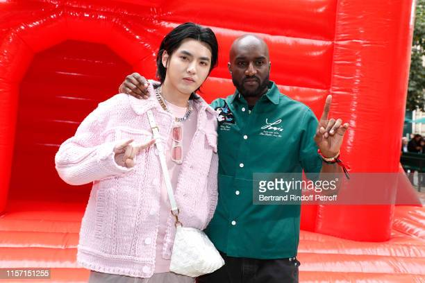 Kris Wu and Stylist Virgil Abloh pose after the Louis Vuitton Menswear Spring Summer 2020 show as part of Paris Fashion Week on June 20 2019 in Paris...