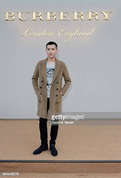 Kris Wu attends the Burberry Menswear January 2016 Show on January 11 2016 in London United Kingdom