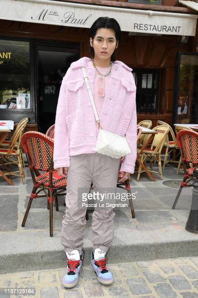 Kris Wu attends the Louis Vuitton Menswear Spring Summer 2020 show as part of Paris Fashion Week on June 20 2019 in Paris France