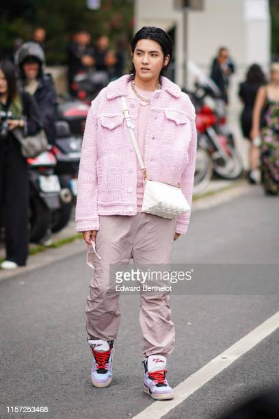 Kris Wu is seen outside Vuitton during Paris Fashion Week Menswear Spring/Summer 2020 on June 20 2019 in Paris France