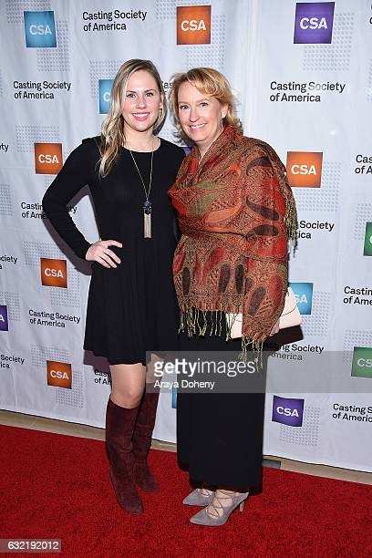 Krisha Bullock and Jaime Snow arrive at the 2017 Annual Artios Awards at The Beverly Hilton Hotel on January 19 2017 in Beverly Hills California