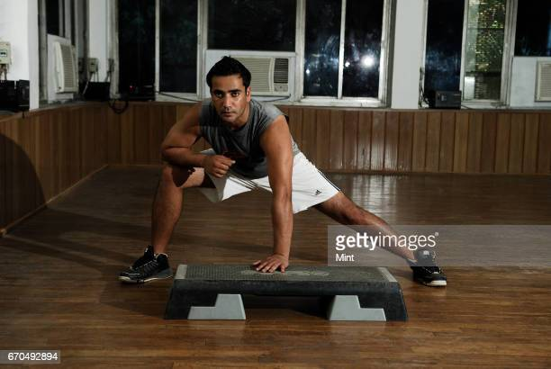 Krishan Tiwari a personal trainer photographed at Sirifort Tiwari says that for fitness activities such as aerobics training in a group works as a...