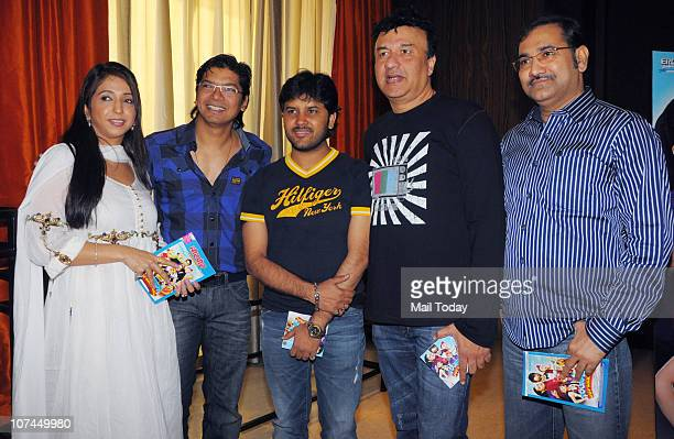 Krishika Lulla Shaan Anu Malik and Sudesh Bhosle at the music launch of the movie 'Toonpur Ka Superhero' at Novatel Juhu on December 8 2010