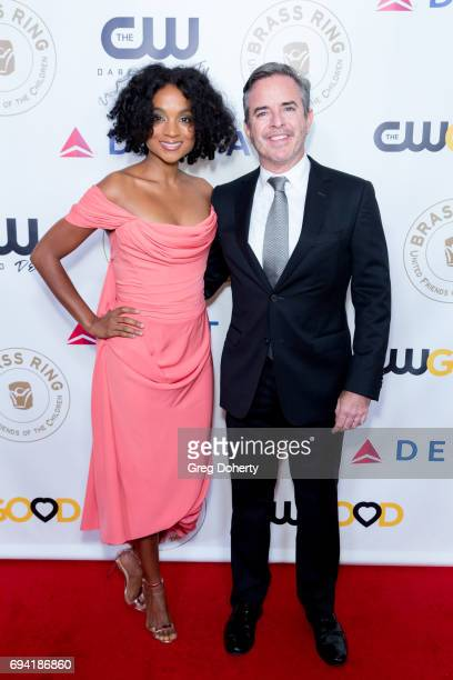 Krishna and Robert Daily attend the 14th Annual Brass Ring Awards Dinner at The Beverly Hilton Hotel on June 8 2017 in Beverly Hills California