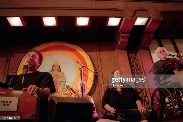 Krishna Das and Ram Dass performing at Synod Hall of St. John the Divine on Saturday night, September 25, 1999.This image:Krishna Das, far left, and...