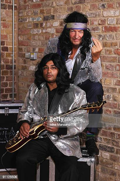 Krishnan Guru Murthy and Jon Snow of the Channel 4 news team pose ahead of their performance at the Newsroom�s Got Talent event held in aid of...