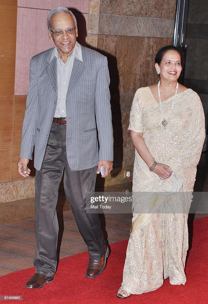Krishnaraj and Vrinda Rai parents of Aishwarya Rai Bachchan at Big Pictures` success bash held in Mumbai on February 28 2010