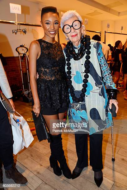 Kriss Mincey and Iris Apfel attend Serena Williams Signature Statement Collection By HSN Backstage September 2016 Style360 Fashion Week at KIA...