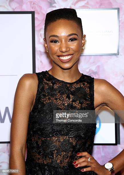 Kriss Mincey arrives as HSN Presents Serena Williams Signature Statement Collection Fashion Show at Kia STYLE360 New York Fashion Week at...