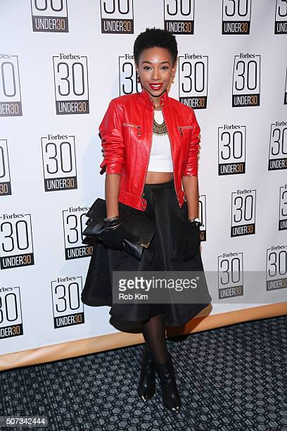 Kriss Mincey attends the Forbes 30 Under 30 Cocktail Reception at Forbes Building on January 28 2016 in New York City