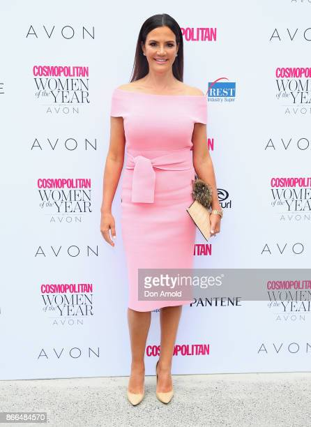 Krissy Marsh arrives ahead of the 11th Annual Cosmopolitan Women of the Year Awards on October 26 2017 in Sydney Australia