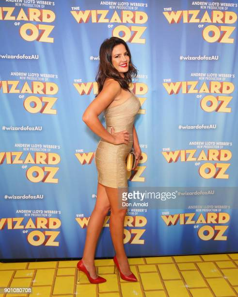 Krissy Marsh attends The Wizard of Oz Sydney Premiere at Capitol Theatre on January 4 2018 in Sydney Australia