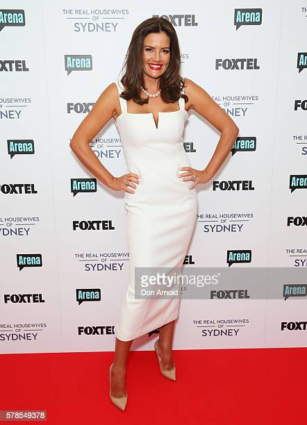 Krissy Marsh poses during a media call to announce the cast of The Real Housewives of Sydney at the Park Hyatt on July 22 2016 in Sydney Australia