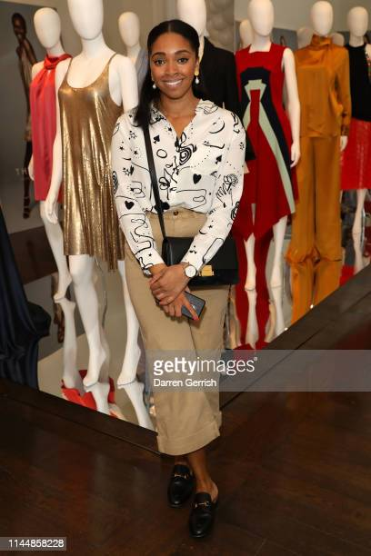 Krissy Turner attends the Outnet's 10th Anniversary Dinner on April 24 2019 in London England