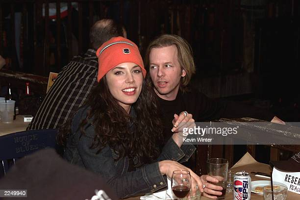 Krista Allen and David Spade at CBS's Super Bowl/Survivor ll viewing party at the House of Blues in Los Angeles Ca 1/28/01 Photo by Kevin...