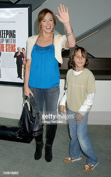 Krista Allen and son Jake during Keeping Up With The Steins Los Angeles Premiere Arrivals at Pacific Design Center in West Hollywood California...