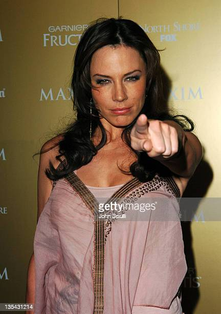 Krista Allen during Maxim Magazine Hot 100 Party in Celebration of the Grand Opening of Body English In the Hard Rock Hotel Casino Red Carpet at Hard...