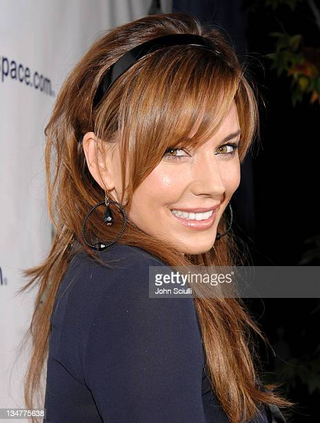 Krista Allen during MySpace Presents Rock for Darfur Party Benefiting Oxfam America at Private Estate in Beverly Hills California United States