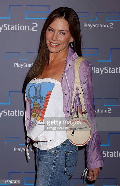 Krista Allen during Playstation 2 Offers A Passage Into 'The Underworld' Arrivals at Belasco Theatre in Los Angeles California United States