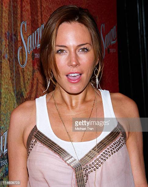Krista Allen during Sauza Tequila's 2006 Cinco de Mayo Party Hosted by Jeremy Piven Arrivals at Velvet Margarita in Hollywood Califonia United States