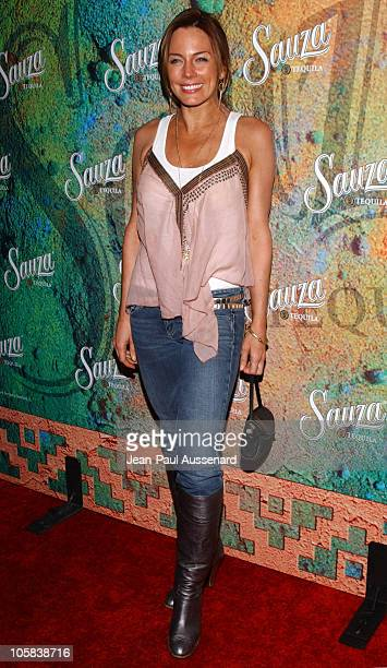 Krista Allen during Sauza Tequila's Cinco de Mayo Party Hosted by Jeremy Piven Arrivals at Velvet Margarita Cantina in Hollywood California United...