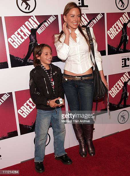 Krista Allen with her son Jake during Green Day Brings 'Bullet in a Bible' to the Big Screen November 15 2005 at The Arclight in Hollywood California...