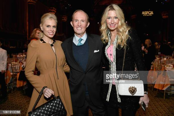 Krista Corl Mark Gilbertson and Mary Snow attend the ASPCA Hosts 2018 Humane Awards Luncheon at Cipriani 42nd Street on November 15 2018 in New York...