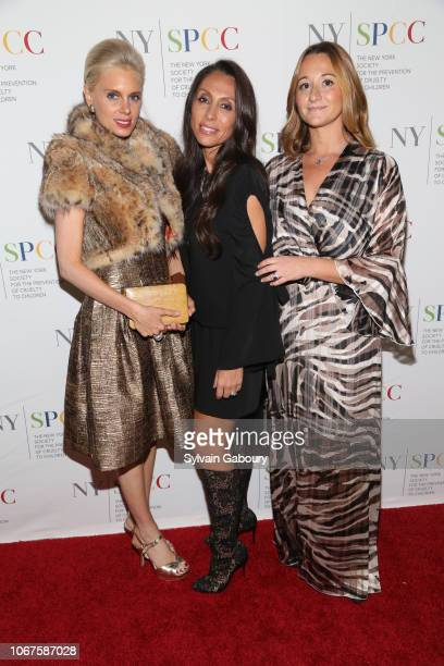 Krista Corl Vicky Cornell and Alexandra Osipow attend The New York Society For The Prevention Of Cruelty To Children's 2018 Food Wine Gala at The...