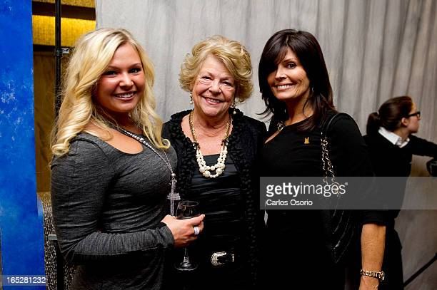 Krista Ford Diane Ford and Doug Ford's wife Karla Ford pose at the Harmony Dinner fundraiser being held at the Metro Toronto Convention Centre on...