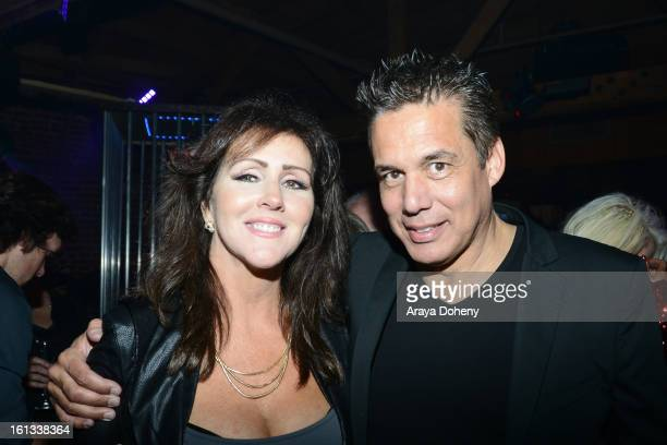 Krista Keller and Reggie Salazar celebrate the release of Courtney Stodden new 'Reality' music video at Eleven NightClub on February 9 2013 in West...