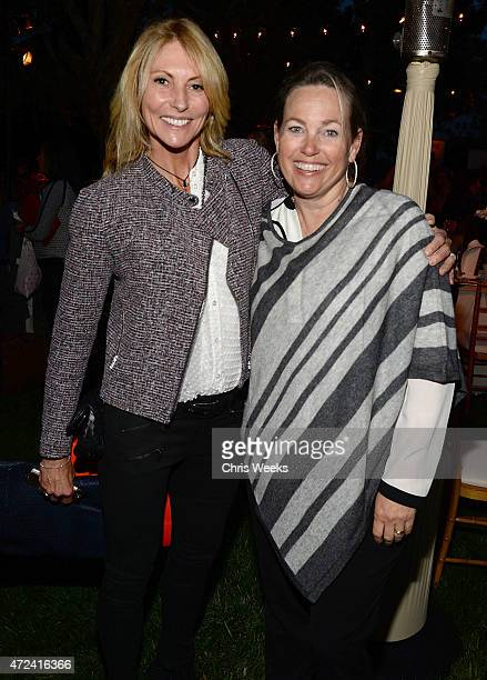 Krista Levitan and Tracy Seinfeld attend the Children's Action Network Wine Women and Shoes at a private residence on May 6 2015 in Santa Monica...
