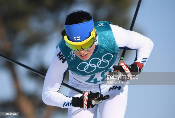 Krista Parmakoski of Finland during the CrossCountry Skiing Ladies' 10 km Free on day six of the PyeongChang 2018 Winter Olympic Games at Alpensia...