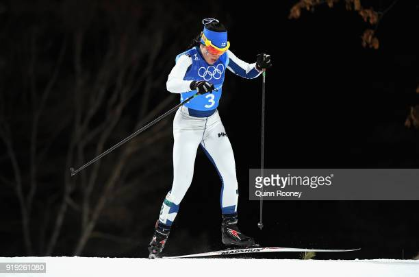 Krista Parmakoski of Finland during the Ladies' 4x5km Relay on day eight of the PyeongChang 2018 Winter Olympic Games at Alpensia CrossCountry Centre...
