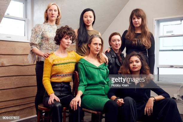 Krista Parris Miranda July Elizabeth Rao Josephine Decker Molly Parker Helenda Howard and Ashley Connor from the film 'Madeline's Madeline' pose for...