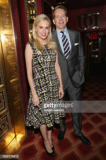 Krista Schulz Corl and James Corl attend David Patrick Columbia And Chris Meigher Toast The QUEST 400 At DOUBLES on September 27 2018 in New York City