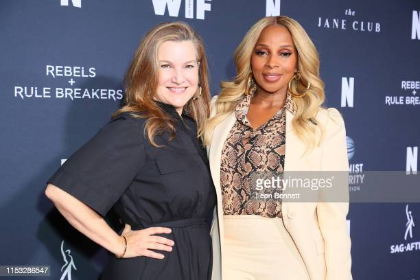 Krista Smith and Mary J. Blige attend FYC Netflix Event Rebels And Rule Breakers at Netflix FYSEE at Raleigh Studios on June 02, 2019 in Los Angeles,...