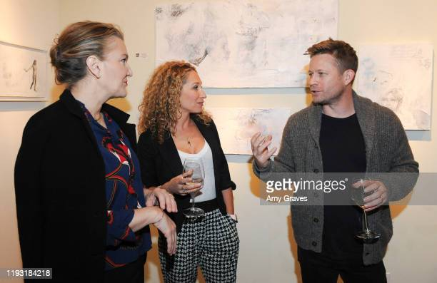 Krista Smith Katie Daryl and Eddie Adams attend the Trigg Ison Fine Art In Association With Krista Smith And Sam TaylorJohnson Present Darren Legallo...