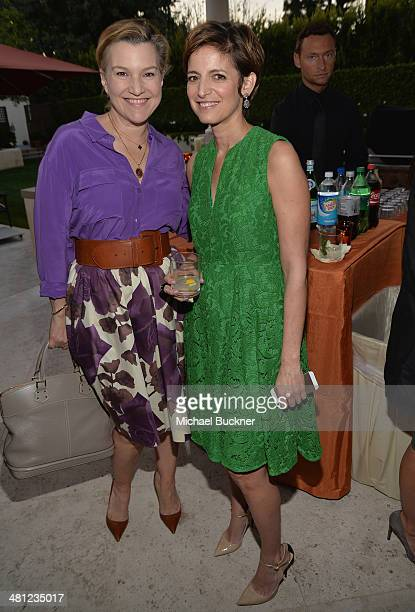 Krista Smith Vanity Fair West Coast Editor and Cindi Leive Editor in Chief Glamour Magazine attend a reception to celebrate Rashida Jones' New...