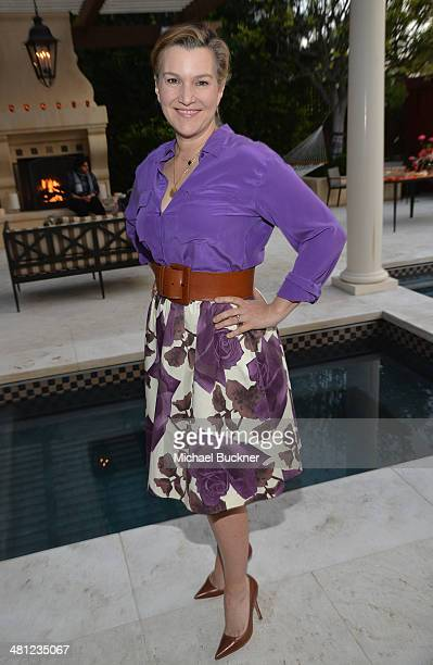 Krista Smith West Coast Editor Vanity Fair attend a reception to celebrate Rashida Jones' New Glamour Column hosted by Cindi Leive and Jane...