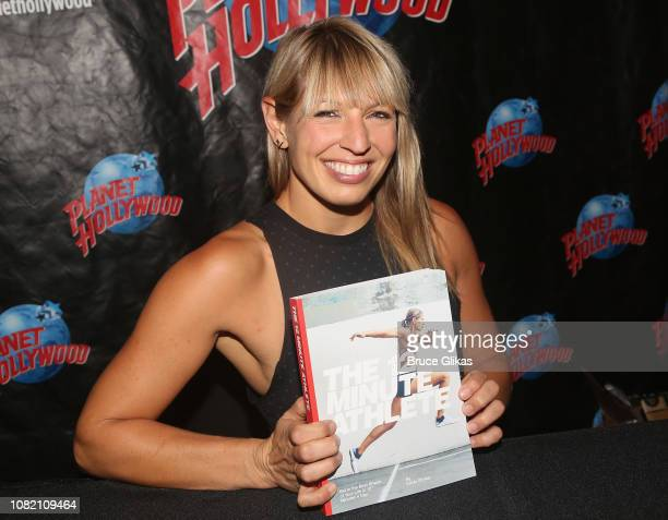 """Krista Stryker promotes her book """"The 12 Minute Athlete: Get In The Best Shape Of Your Life In 12 Minutes A Day"""" at Planet Hollywood Times Square on..."""