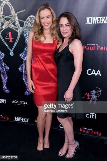 Kristanna Loken and Yancy Butler attend the 4th Annual Artemis Women In Action Festival at the Ahrya Fine Arts Theater on April 26 2018 in Beverly...