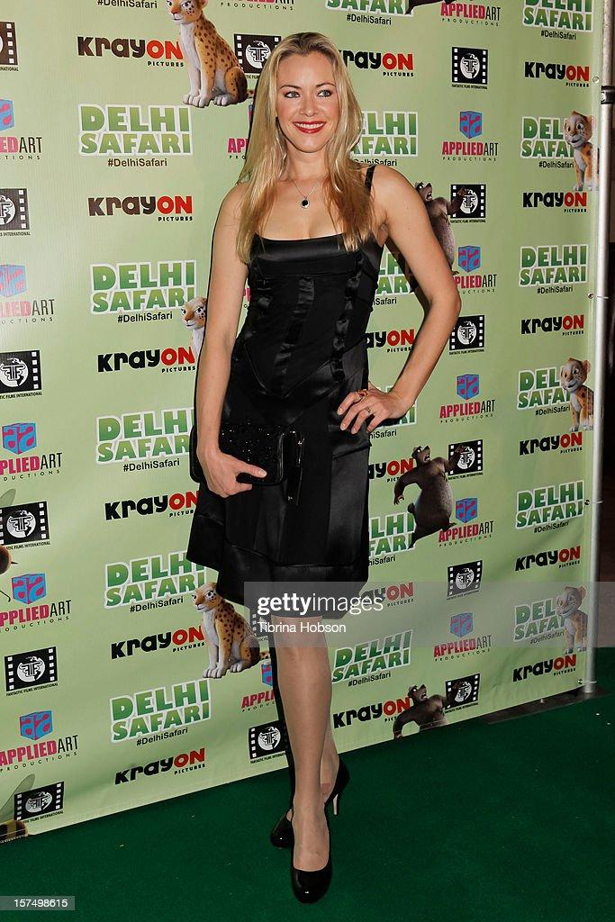 Kristanna Loken attends the Delhi Safari Los Angeles premiere at Pacific Theatre at The Grove on December 3, 2012 in Los Angeles, California.