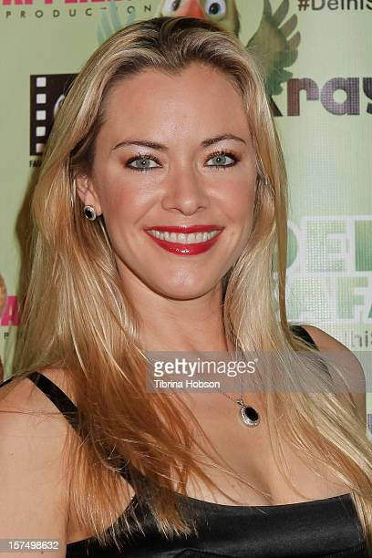 Kristanna Loken attends the Delhi Safari Los Angeles premiere at Pacific Theatre at The Grove on December 3 2012 in Los Angeles California