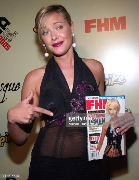 Kristanna Loken during 2005 Spike TV Video Game Awards Party Hosted by FHM and SpikeTV Arrivals at Basque in Hollywood California United States