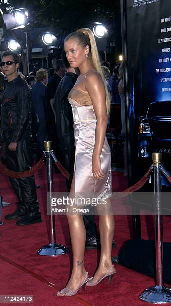 Kristanna Loken during Terminator 3 Rise of the Machines Los Angeles Premiere at Mann Village Theatre in Westwood California United States