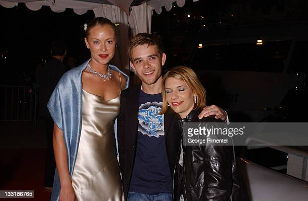 Kristanna Loken Nick Stahl and Claire Danes during 2003 Cannes Film Festival Anheuser Busch T3 Party at Anheuser Busch Yacht in Cannes France