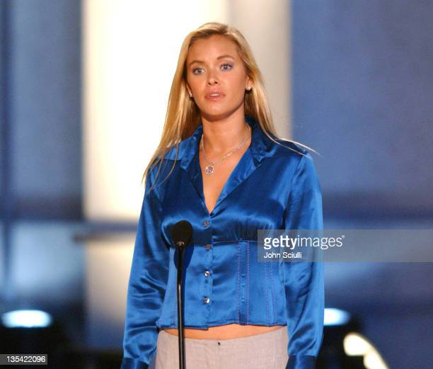 Kristanna Loken presents the Award for Best Stunt Work in a Foreign Film