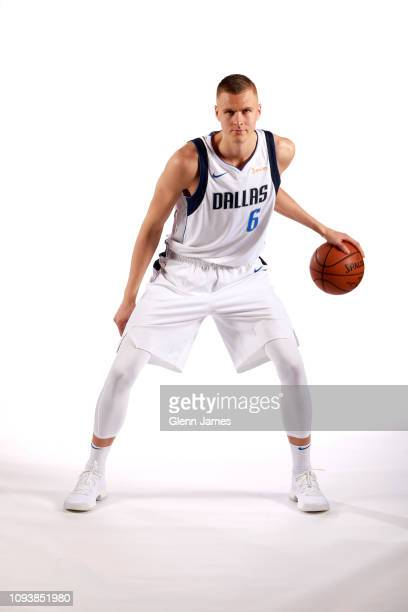 Kristaps Porzingis of the Dallas Mavericks poses for a portrait on Feb 4 2019 at the American Airlines Center in Dallas Texas NOTE TO USER User...