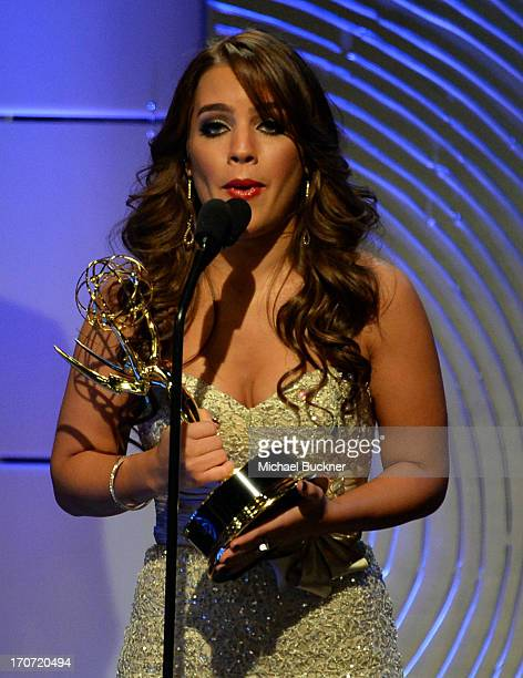 Kristen Alderson accepts the Outstanding Younger Actress in a Drama Series award for 'General Hospital' onstage during the 40th Annual Daytime Emmy...